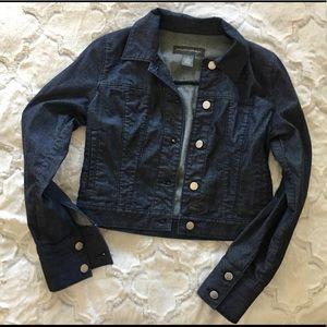 BANANA REPUBLIC Dark Blue Cropped Jean Jacket